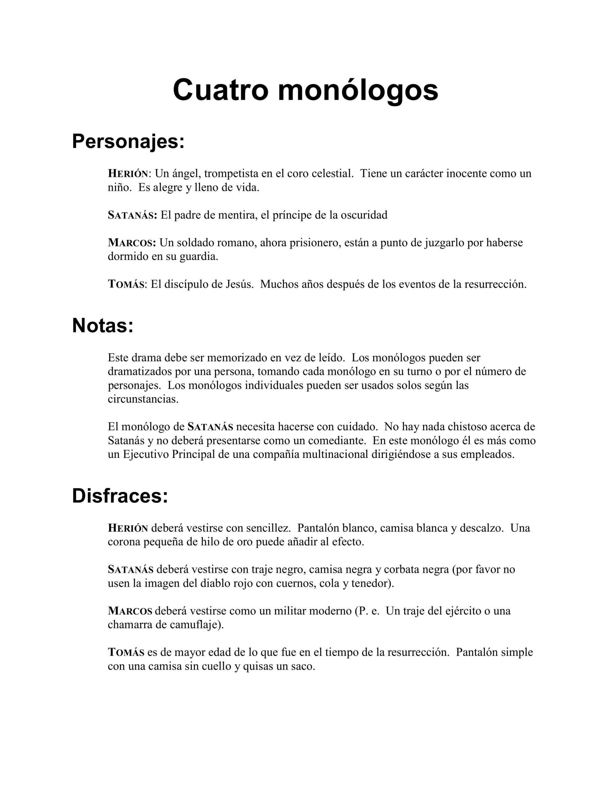 Cuatro monologos imagen 1