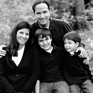 Una familia feliz.