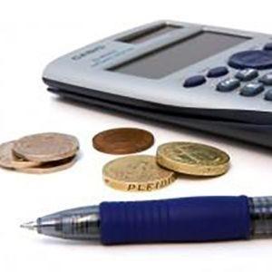 imagen de calculadora y dinero