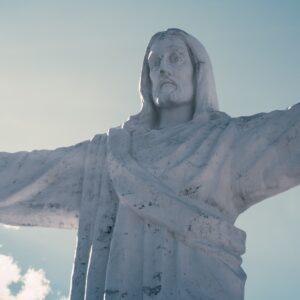A statue of Jesus.
