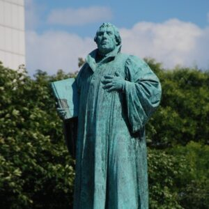 A statue of Martin Luther.