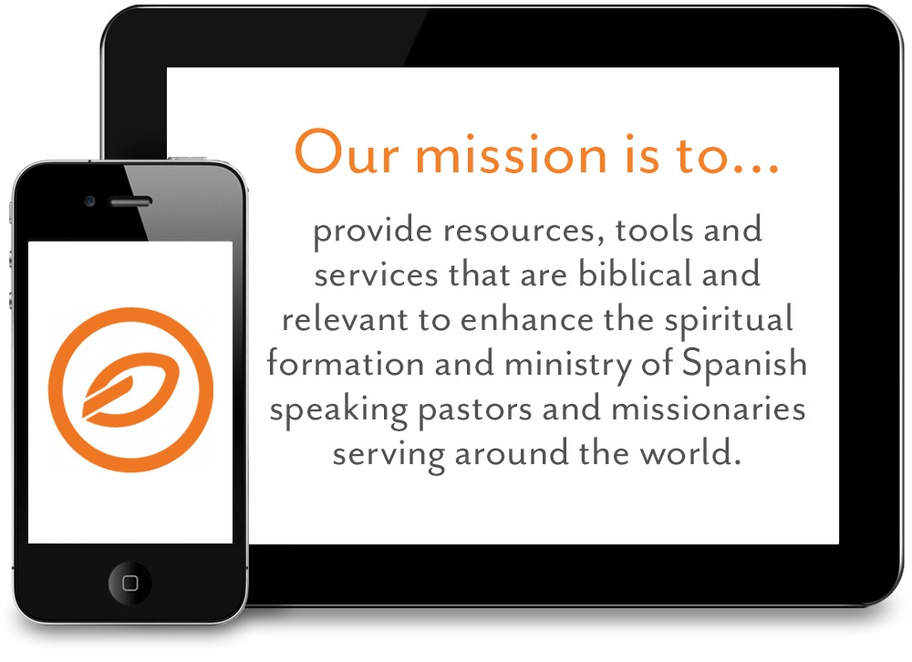 Image of iPad showing Obrero Fiel Mission statement
