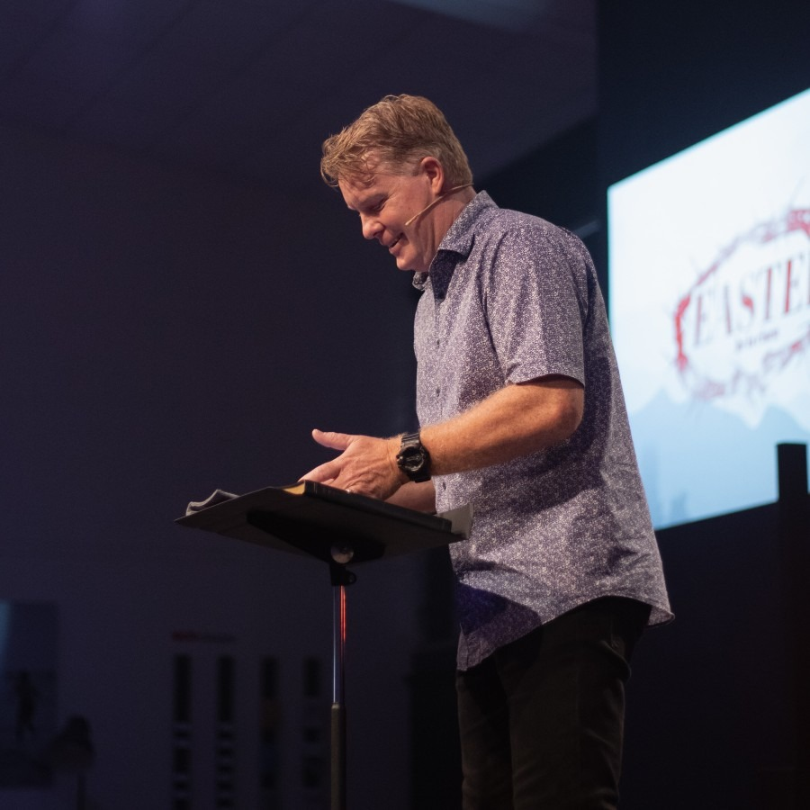 a pastor preaching
