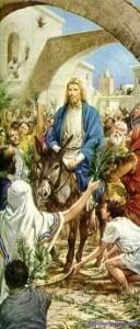 Jesús en un burro