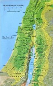 Mapa de Palestina  Antiguo Testamento