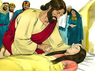Jesús sana a la hija de Jairo