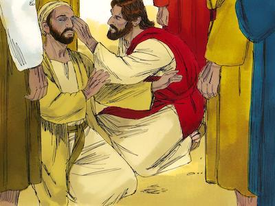 Jesus sana a un ciego de nacimiento