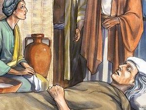 Jesús sana la suegra de Pedro
